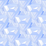 Geometric seamless background. Abstract 3D polygonal pattern Stock Photo