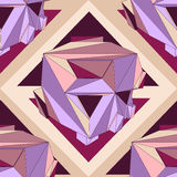 Geometric seamless background. Abstract 3D polygonal pattern Stock Photos