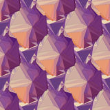 Geometric seamless background. Abstract 3D polygonal pattern Royalty Free Stock Photos