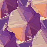 Geometric seamless background. Abstract 3D polygonal pattern Royalty Free Stock Photography