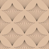 Geometric seamless background. Brown wallpaper with rhombus elements Stock Image