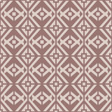 Geometric seamless background. Brown wallpaper with rhombus elements Royalty Free Stock Photography