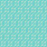 Geometric Seamless Background. Contemporary blue flat seamless pattern with lines and dots royalty free illustration
