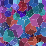 Geometric seamless background. Geometric 3D cube seamless background, EPS8 - vector graphics Royalty Free Illustration
