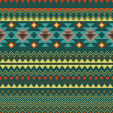 Geometric seamless background in ethnic style. Trendy vector background abstract background, style of the American Indians Stock Images