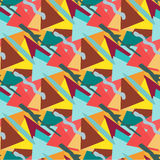Geometric seamless beautiful color pattern in retro style Royalty Free Stock Image
