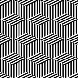 Geometric seamless black and white Royalty Free Stock Photo