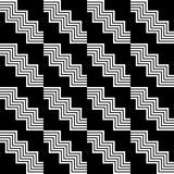 Geometric seamless black and white pattern Stock Photography