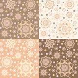 Geometric seamless brown Royalty Free Stock Image