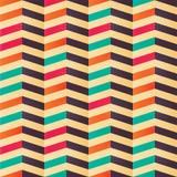 Geometric seamless chevron pattern in retro colors Stock Photos