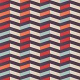 Geometric seamless chevron pattern in retro colors Stock Image