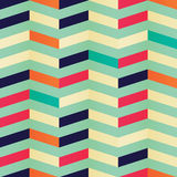Geometric seamless chevron pattern in retro colors Royalty Free Stock Photography
