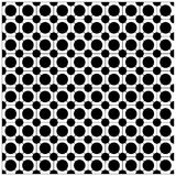 Geometric seamless circle pattern in black and white. Royalty Free Stock Image