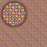 Geometric seamless detailed pattern Stock Image