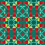 Geometric seamless fish pattern Stock Images
