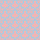 Geometric seamless floral pattern pastel palette Stock Image