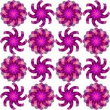 Geometric seamless flowers pattern Royalty Free Stock Images