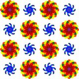 Geometric seamless flowers pattern 2 Royalty Free Stock Photos