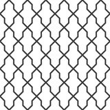 Geometric seamless grating background, vector illustration. Stock Photography