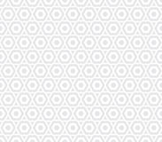 Geometric seamless gray hexagon pattern Royalty Free Stock Images