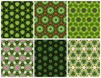 Geometric seamless green pattern. Set of Geometric seamless green pattern royalty free stock photo