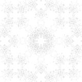 Geometric seamless grid consisting of points with lines. Vector illustration Royalty Free Stock Image