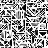 Geometric seamless hand draw Folk patter. lines ornament vector illustration