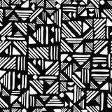 Geometric seamless hand draw Folk patter. Weave lines ornament royalty free illustration