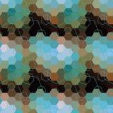 Geometric seamless hexagon abstract background Stock Image