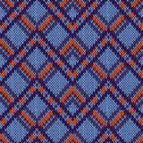 Seamless Knitted Ornamental Pattern Stock Photography