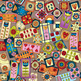 Geometric seamless patchwork style pattern. Royalty Free Stock Photography