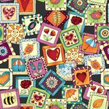 Geometric seamless patchwork style pattern. Stock Image