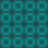 Geometric Seamless Pattern. Curved and Flowery Geometric Retro Seamless Pattern Royalty Free Stock Photo