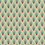 Geometric seamless pattern. With green and red lozenges Royalty Free Stock Photos