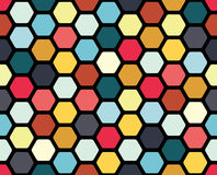 Geometric seamless pattern. With colored cells Stock Photos