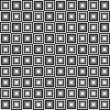 Geometric seamless pattern, abstract background. Checkered design, black and white squares, optical illusion. For the. Design of wallpaper, wrap, fabric. Vector Stock Images