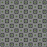 Geometric seamless pattern, abstract background. Checkered design, black and white squares, optical illusion. For the. Design of wallpaper, wrap, fabric. Vector Stock Photography