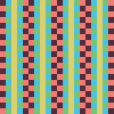 Geometric seamless pattern, abstract background. Checkered design, multicolored squares and the strip. For the  of. Geometric seamless pattern, abstract Stock Photos