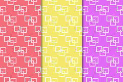 Geometric seamless pattern. Abstract background with square elements. Vector illustration Royalty Free Stock Images