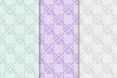 Geometric seamless pattern. Abstract background with square shape elements. Vector illustration Stock Illustration