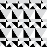 Geometric seamless pattern - abstract black and white shapes, illustration background Stock Photography