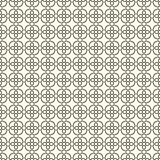 Geometric seamless pattern with abstract flowers. Vector background Stock Images