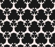 Geometric seamless pattern. Abstract monochrome ornamental grid Stock Photography