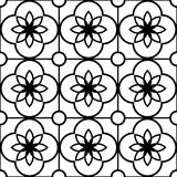 Geometric seamless pattern, abstract ornament style, tiled design in black and white Stock Photo