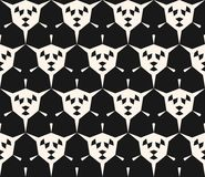 Geometric seamless pattern with angular shapes, hexagons. Abstract geometric seamless pattern with angular shapes, hexagonal grid. Modern geometrical monochrome Royalty Free Stock Photos