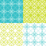 Geometric seamless pattern, Arabic ornament style, tiled design in turquoise and green color Stock Image