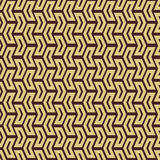 Geometric Seamless Pattern. Geometric pattern with arrows. Seamless abstract background. Brown and golden colors vector illustration