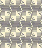 Geometric seamless pattern background with curved line. Royalty Free Stock Photos