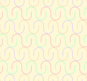 Geometric seamless pattern background with curved line. Stock Image
