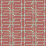 Geometric seamless pattern background with line and round corner Stock Images
